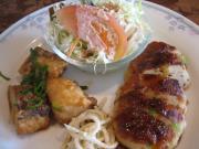 日替ランチ 豆腐ハンバーグ&白身魚の唐揚(縮)