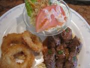 牛肉の野菜巻き&イカリングフライ