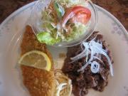 焼肉&白身魚のフライ()