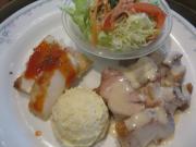 若鶏クリームシチュー&ロールイカのチリソース煮
