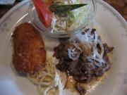 和風焼肉&白身魚のフライ()