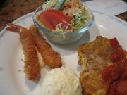 豚ヘレ肉のピカタ&海老フライ