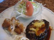 チーズハンバーグ&白身魚のフライ()
