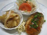 豆腐ハンバーグ&赤魚の唐揚げ あんかけソース()