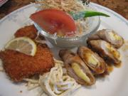 豚ロースチーズ巻&サーモンフライ()