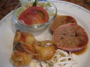 ミートローフベーコン巻&赤魚の唐揚げ(