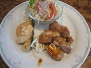 若鶏モモ照焼&タラのオーロラ風タルタルソース()