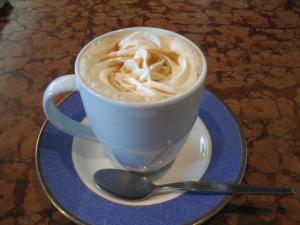マロン風味のカフェオーレです。
