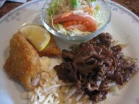 焼肉白身魚のフライ
