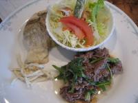 牛肉のマリネ&白身魚のムニエル()