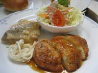 豆腐ハンバーグ&白身魚のムニエル(