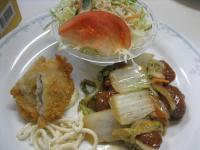 肉団子と野菜甘酢あんかけ&白身魚のフライ(