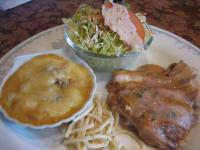 鶏モモソティー梅肉ソースシーフードグラタン()