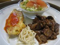 焼き肉&白身魚のピカタ