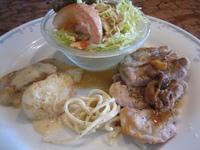 ポークソテーきのこソース&白身魚のバター焼きホワイトクリームソース(