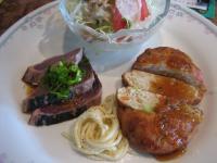 豆腐ハンバーグカツオのたたき()