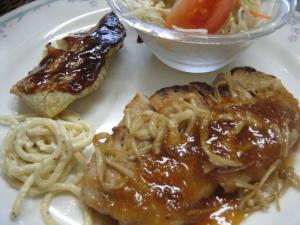 ポークソテー&タラの味噌焼()