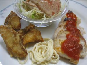 チキンローストトマトソース&赤魚の唐揚げ(