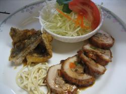 野菜入りチキンロール&カレイの唐揚げ