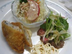 牛肉のマリネ風&白身魚のフライ