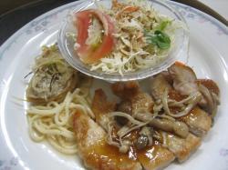 ポークソテーきのこソース&白身魚の南蛮漬