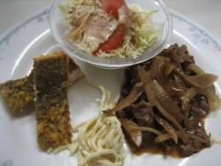 焼き肉&カレイの唐揚げ