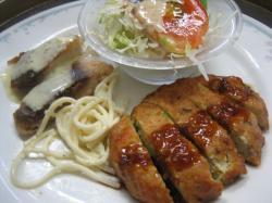 豆腐ハンバーグ&ボラのムニエル