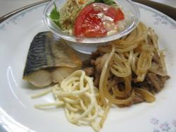 焼肉&鯖の塩焼き()