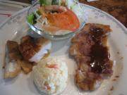 豚ロースソティー リヨン風&赤魚の照り焼き