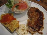 ビーフカツレツ&白身魚の野菜ピカタ