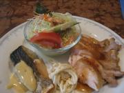 若鶏オーブン焼き梅ダレ&サワラのムニエル