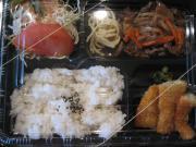 焼肉&白身魚のフライ