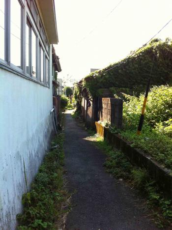 瀬戸 廃屋脇の道