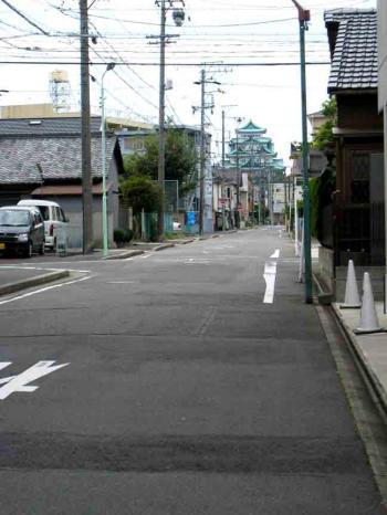 浄心付近 奥に名古屋城