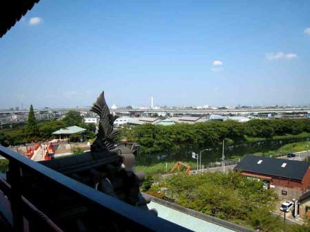 清洲城展望台からの景色