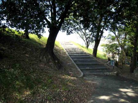 高牟神社からの上り階段