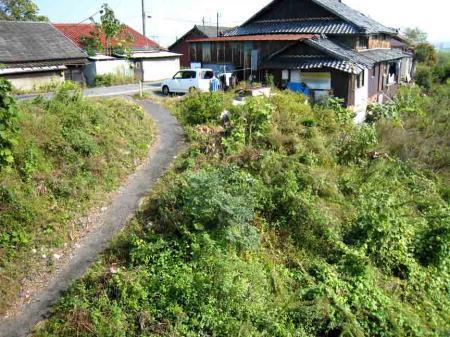 矢田川脇の小坂道