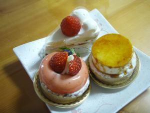 伸のケーキ