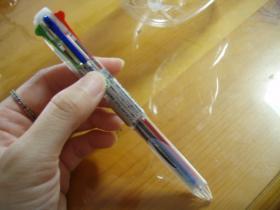 4色ボールペン出来上がり
