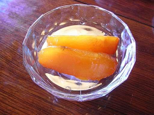 柿のデザート