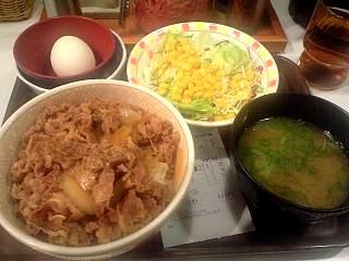 すき家(牛丼セット)