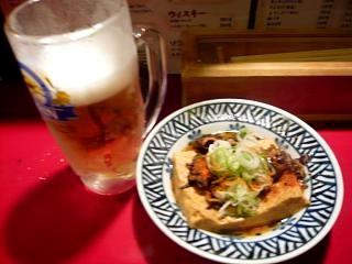 やまと(ビールと肉豆腐)