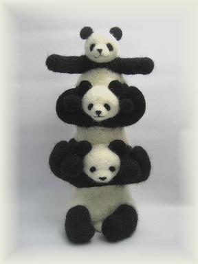パンダの組体操