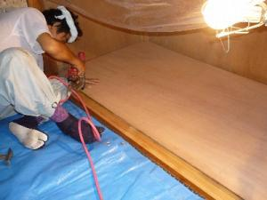 床貼替 under construction