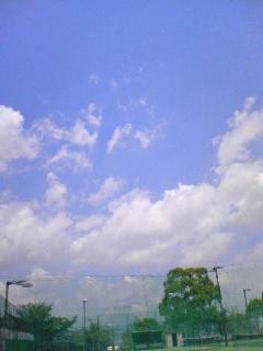 携帯にて*夏の空