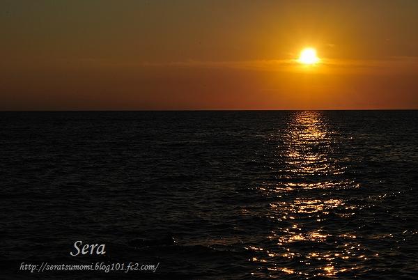 旅人岬での夕陽