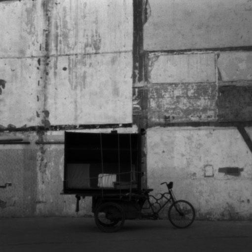 リヤカー付き自転車