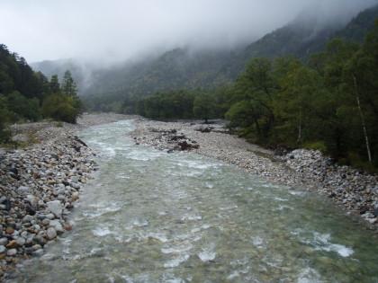 梓川の水量