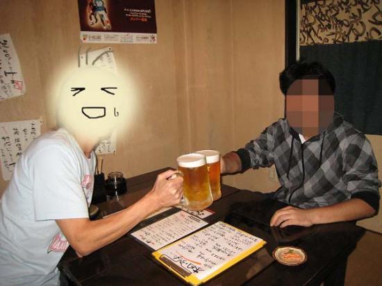 2009/09/18しいさんと乾杯