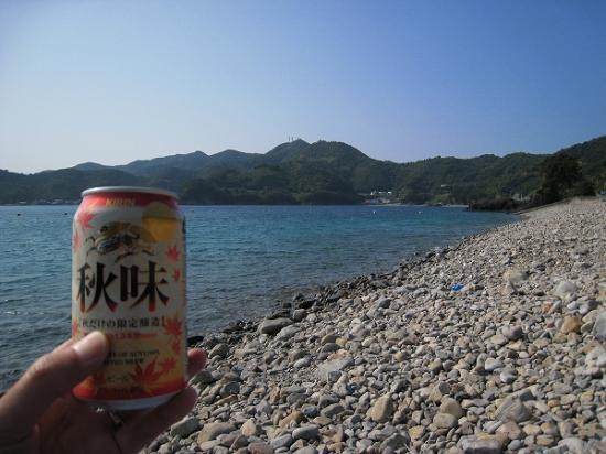 2009/08/31須ノ川公園海水浴海とビール